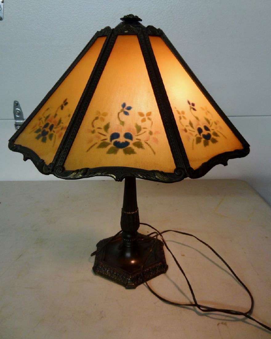 Reverse Painted Panel Lamp