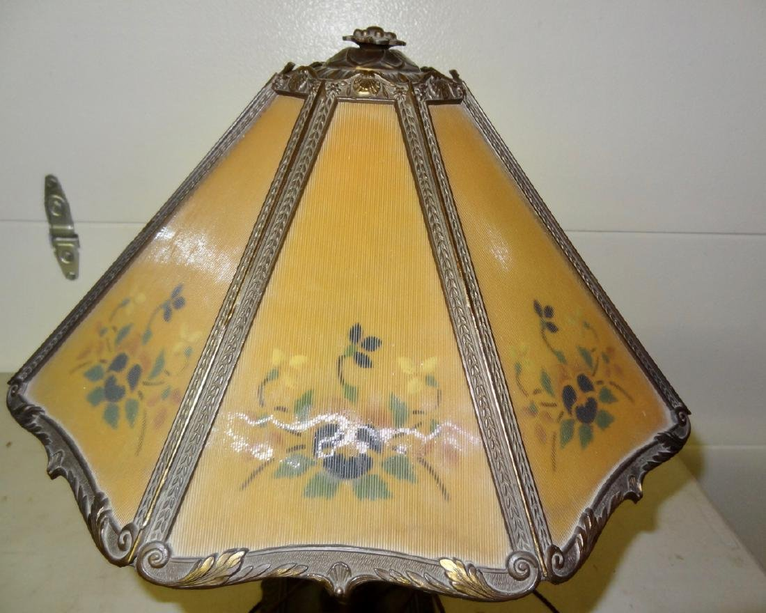 Reverse Painted Panel Lamp - 2