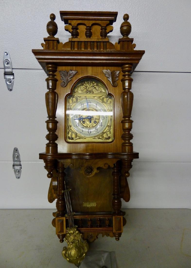 Large Free Swinging Art Neuveau Style Wall Clock