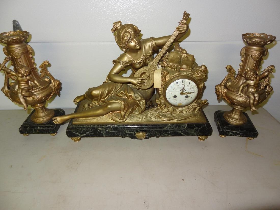 Ornate 3 Pc. French Clockset