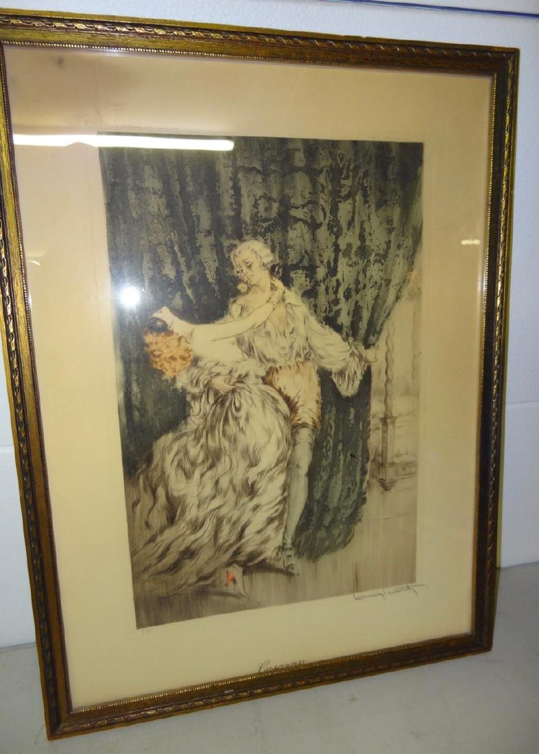 Original Louis Icart Frame Print Casanova