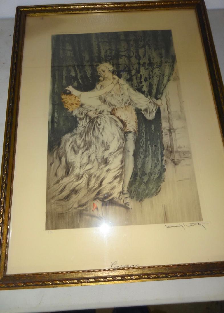 Original Louis Icart Frame Print Casanova - 2