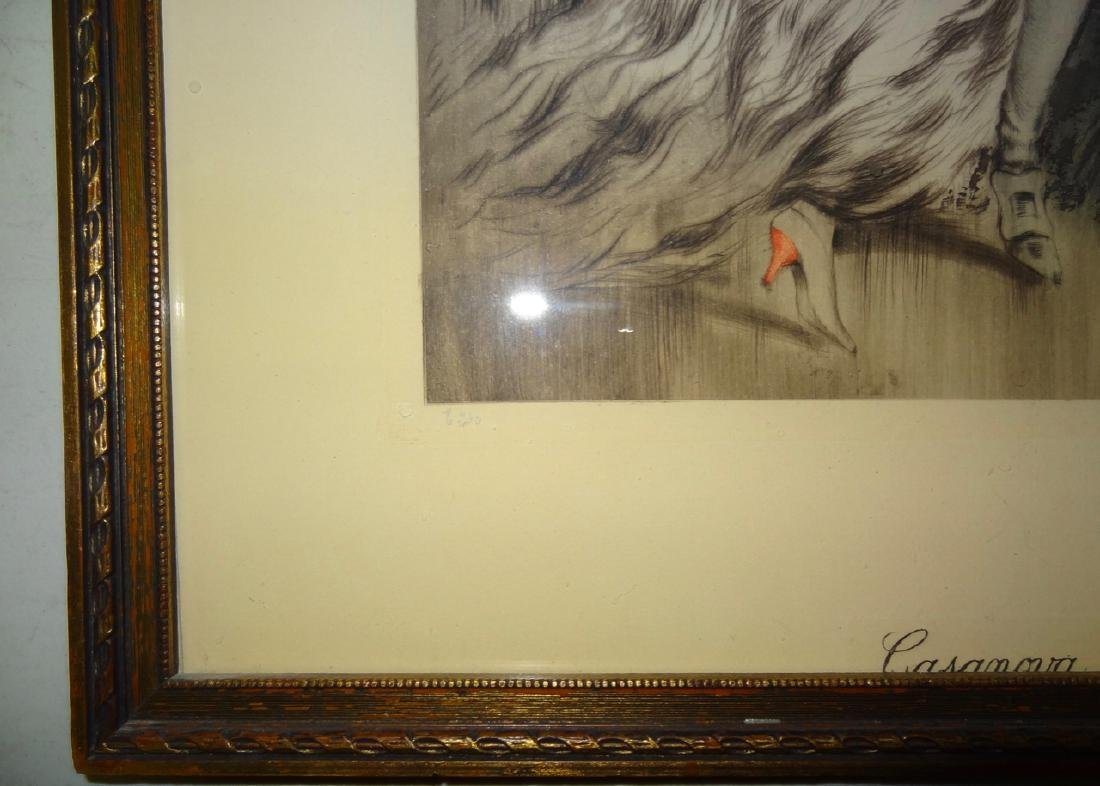 Original Louis Icart Frame Print Casanova - 5