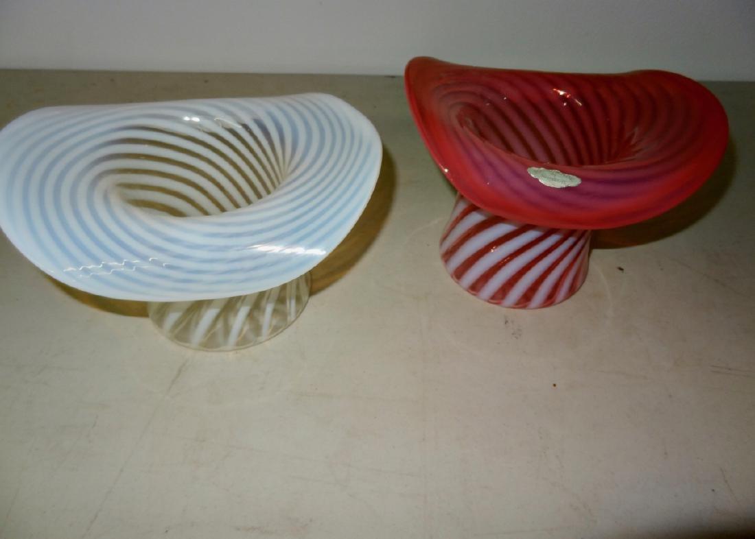 2 Opalescent Swirl Hats