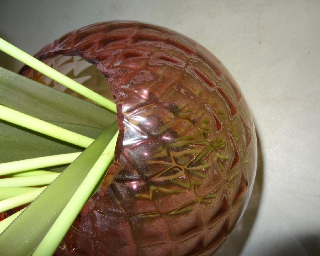 """6"""" Quilted Amberia Bowl - 3"""