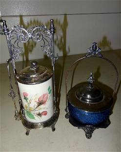 2 Victorian Silverplate Serving Pieces