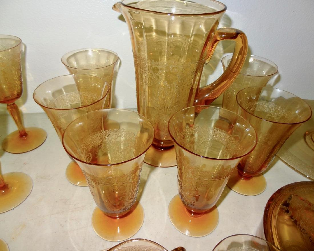Over 50 Pcs of  Amber Cambridge Glass - 3