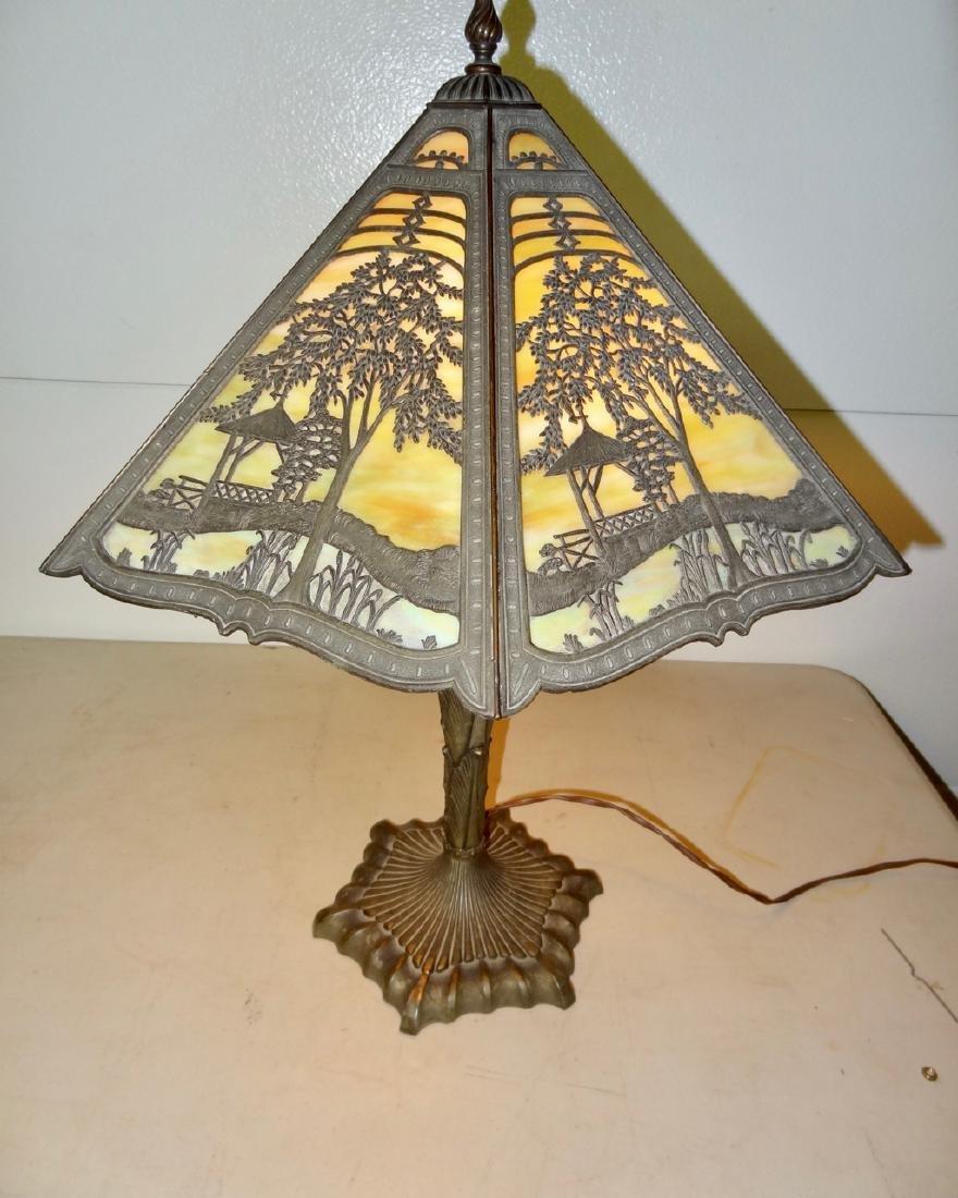 Victorian Scenic Panel Lamp