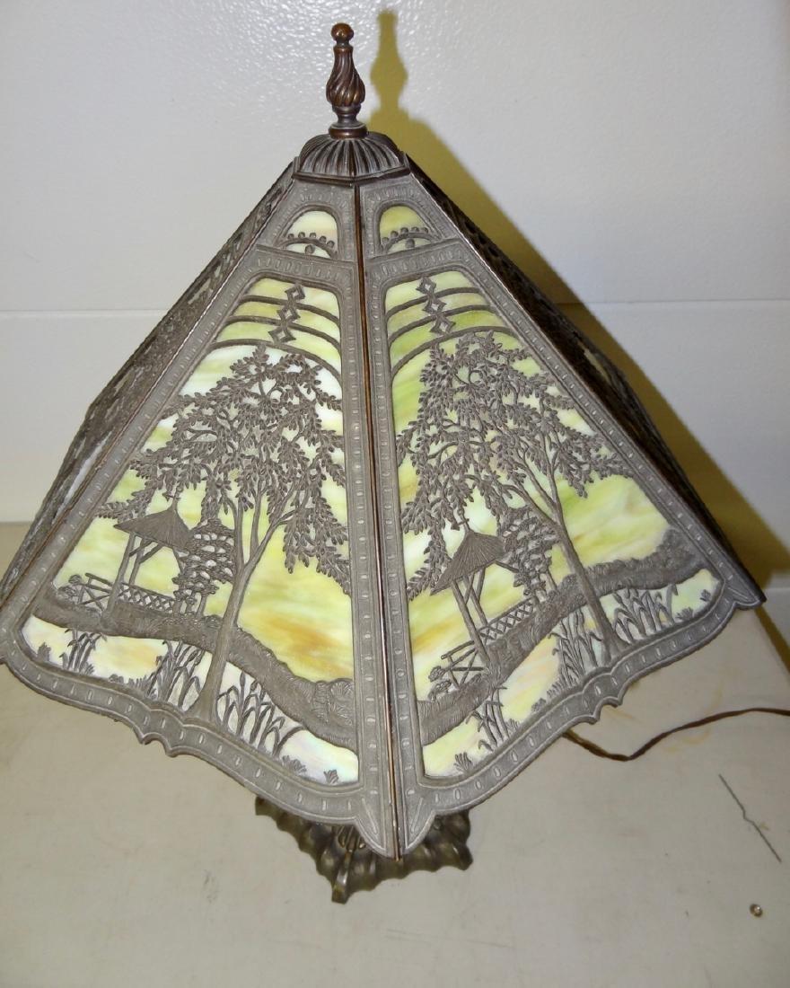Victorian Scenic Panel Lamp - 3