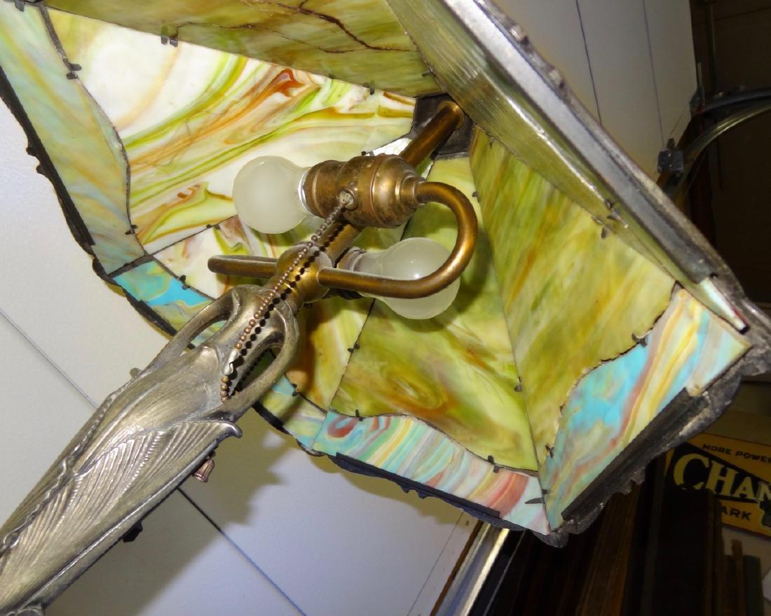 Victorian Scenic Panel Lamp - 4