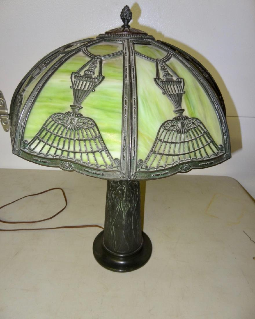 Curved Glass Panel Lamp
