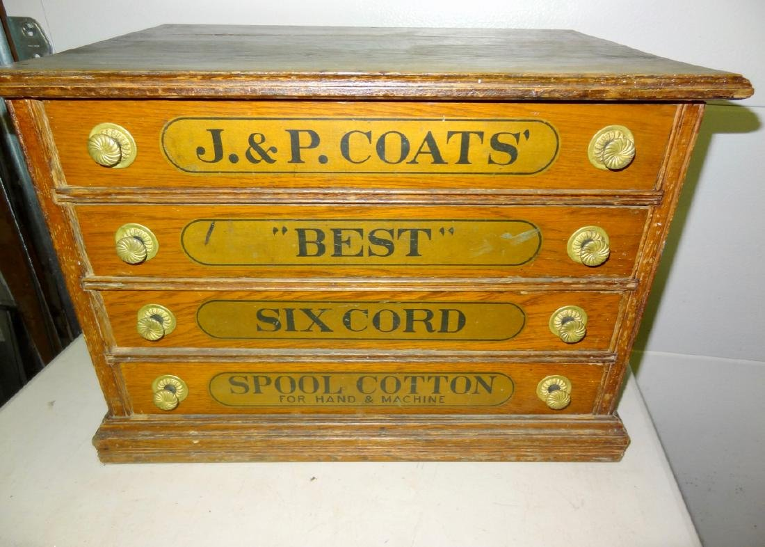 JP Coates 4 Drawer Spool Cabinet