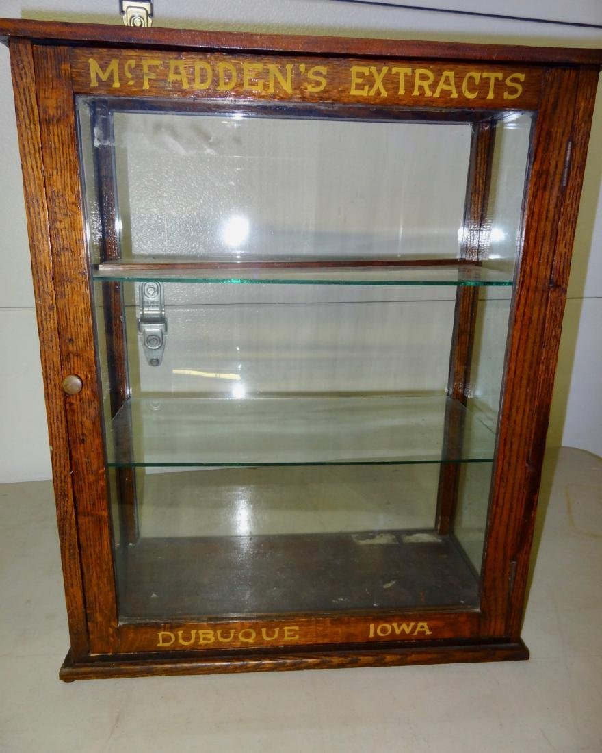 McFadden's Extracts Oak Counter Top Display Case