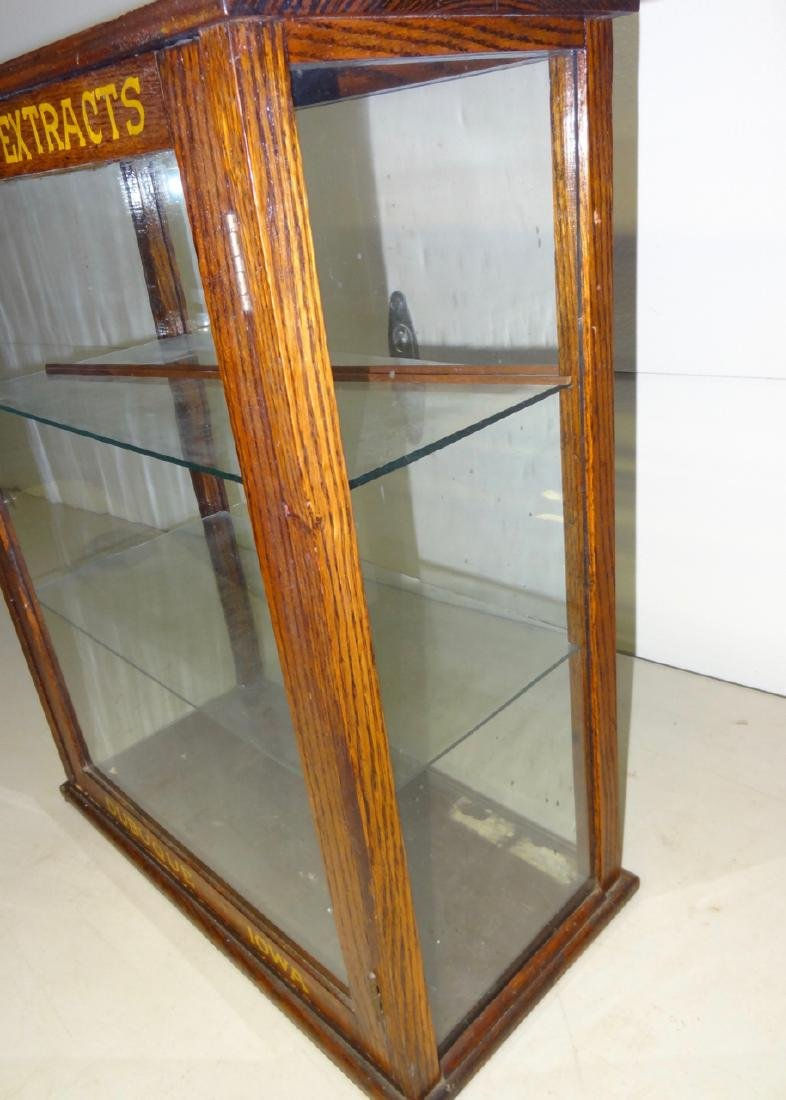 McFadden's Extracts Oak Counter Top Display Case - 2