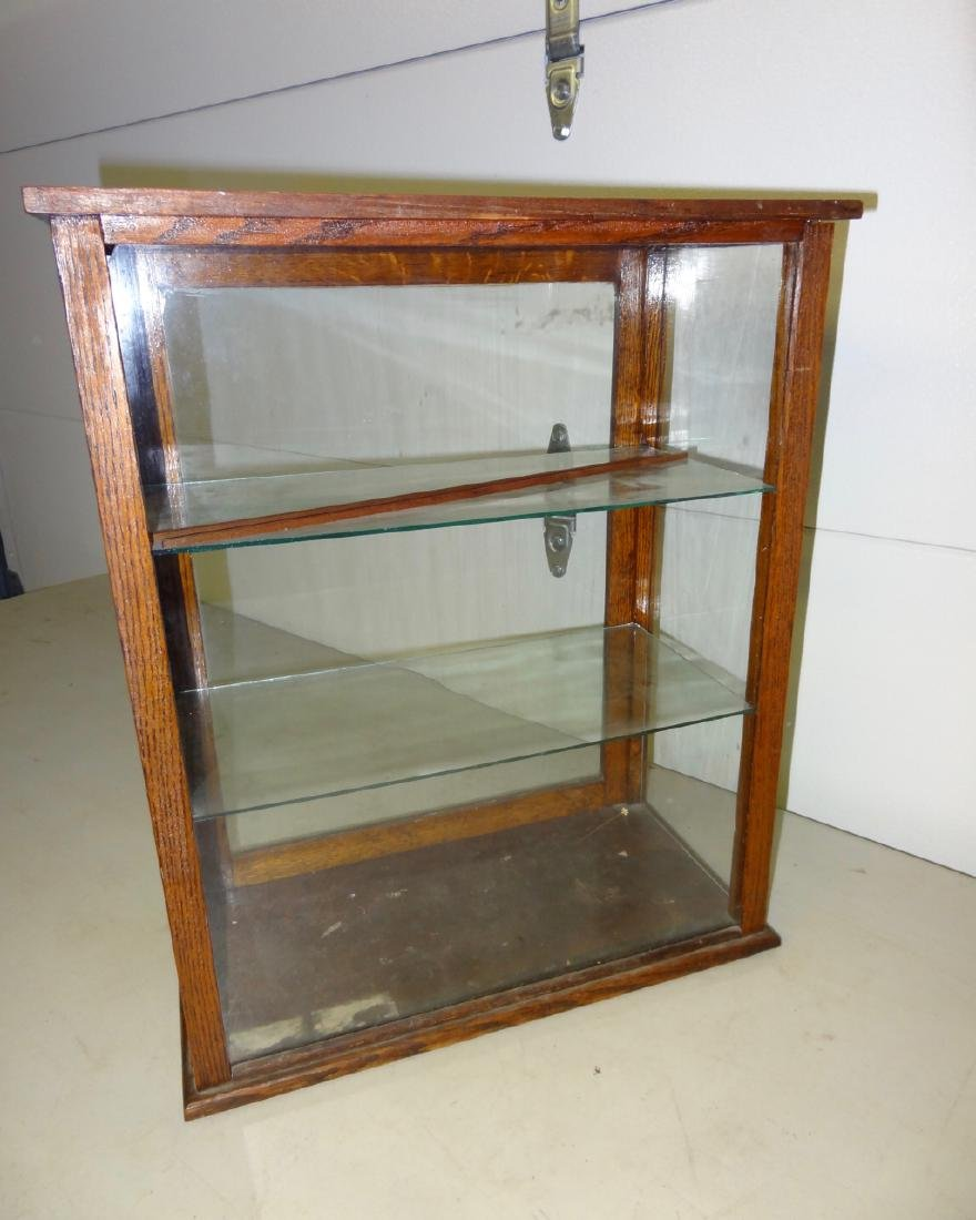 McFadden's Extracts Oak Counter Top Display Case - 3