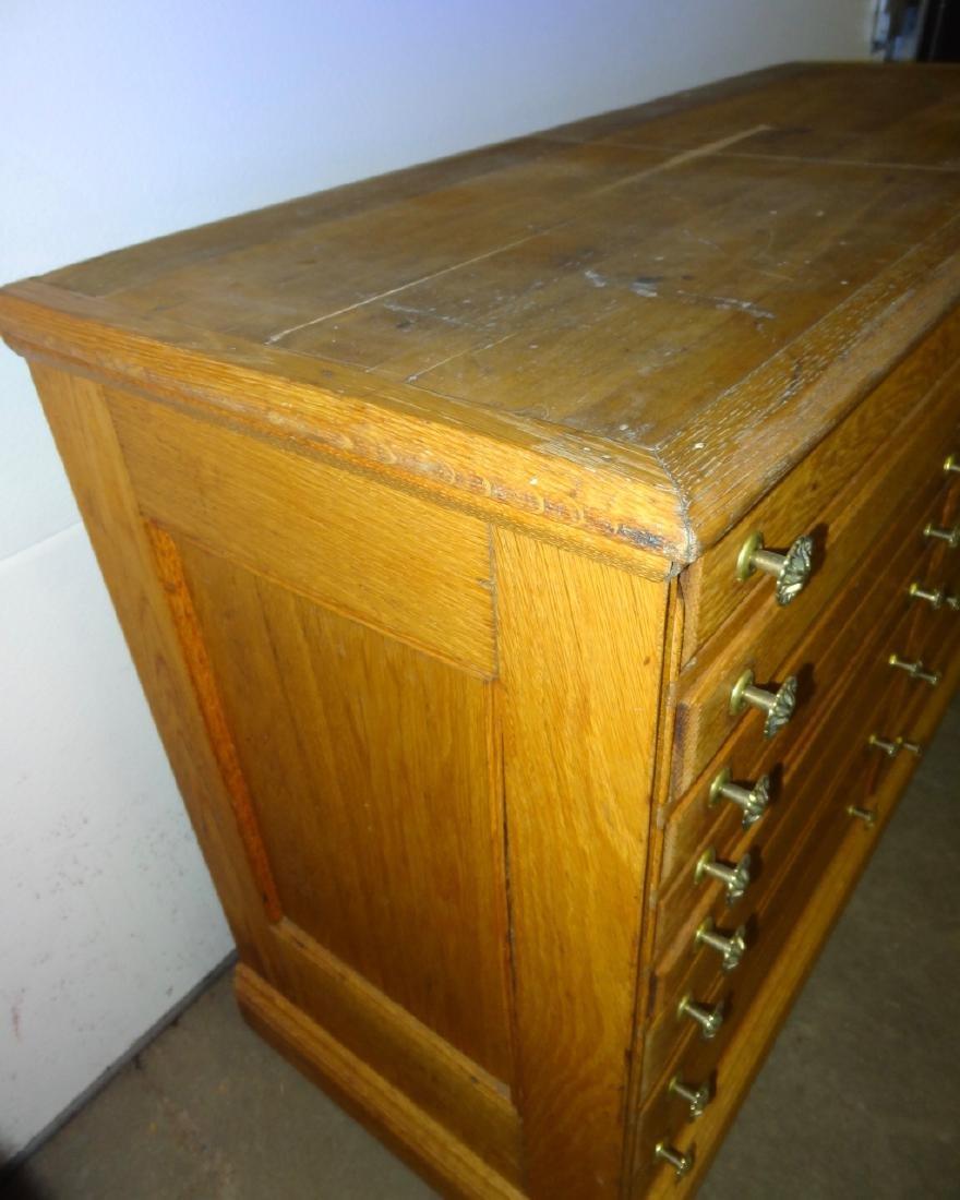 16 Drawer Oak Cabinet - 3