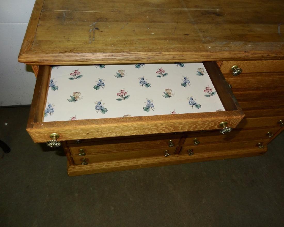 16 Drawer Oak Cabinet - 4