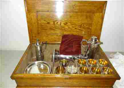 Early Silverplate Communion Set
