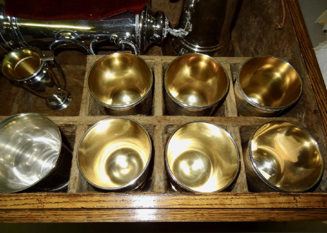 Early Silverplate Communion Set - 2