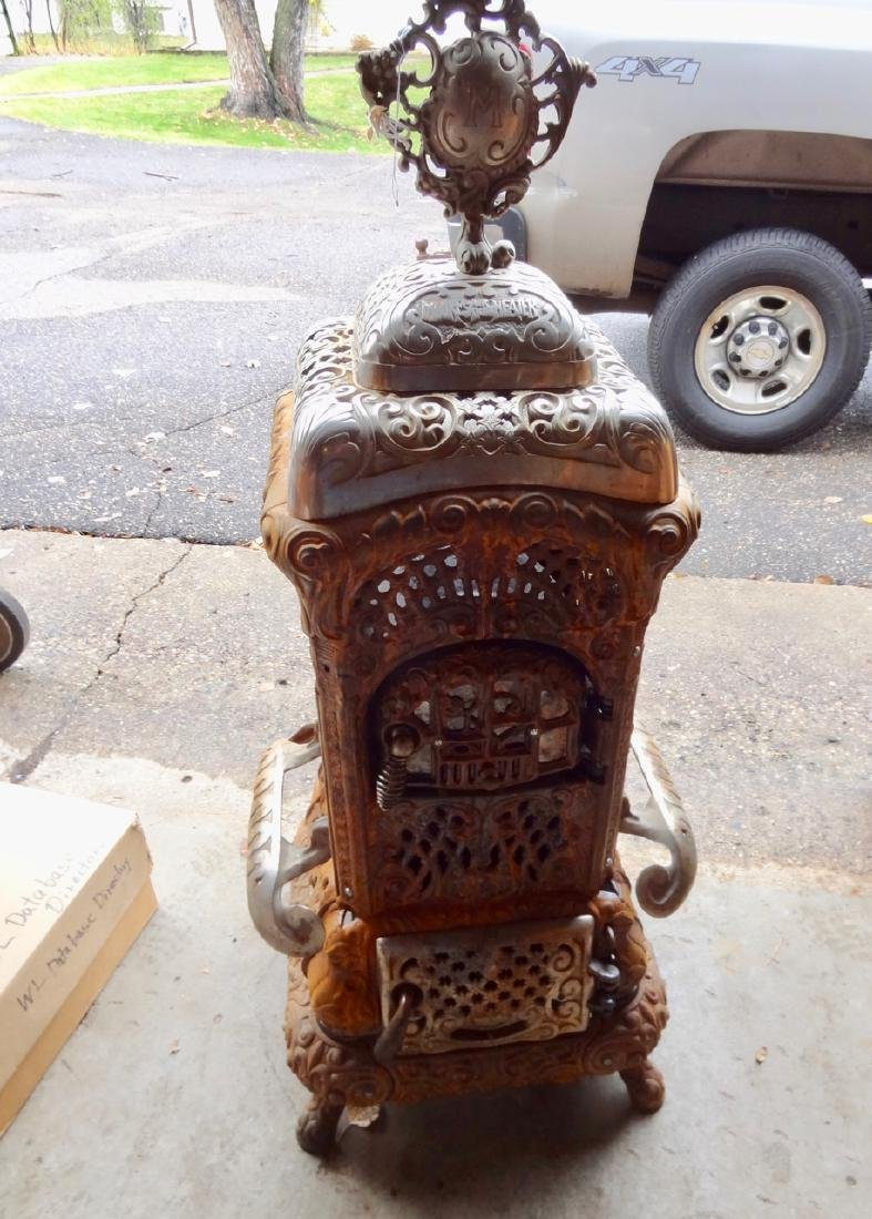 Moore's Cast Iron Parlor Stove - 4