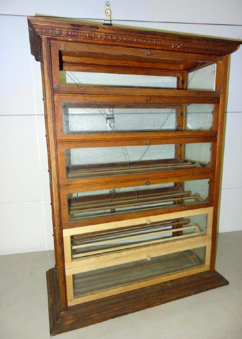 Double Country Store Countertop Ribbon Cabinet