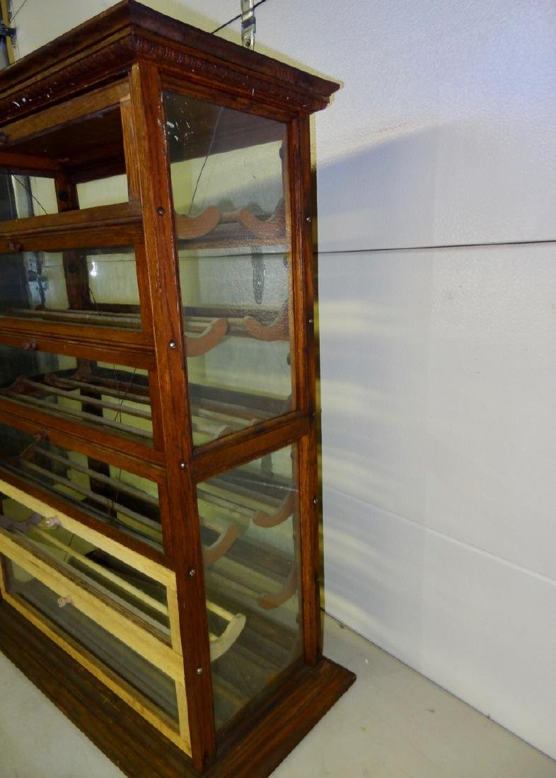 Double Country Store Countertop Ribbon Cabinet - 2