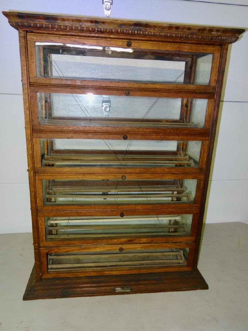 Double Country Store Countertop Ribbon Cabinet - 3
