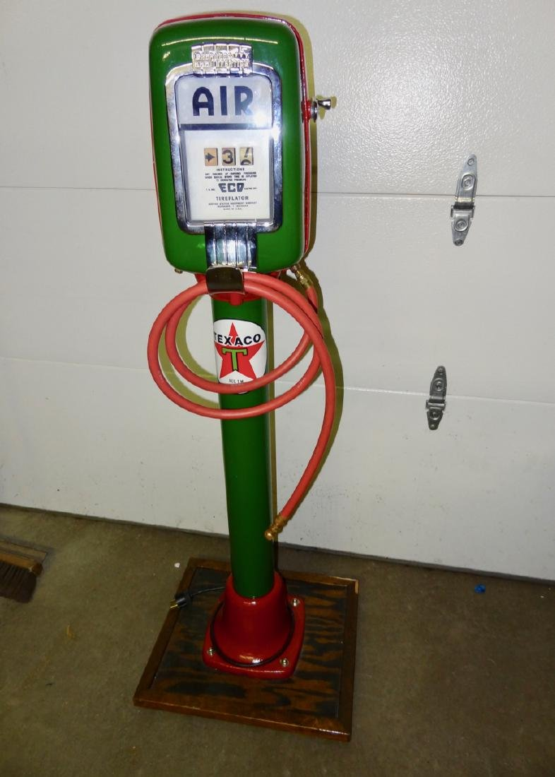 Texaco Restored Eco Tire Inflater on Stand