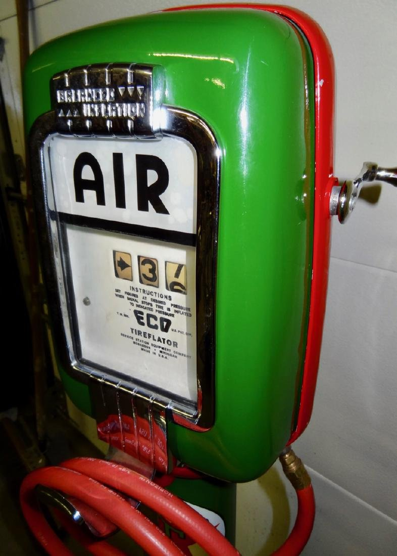 Texaco Restored Eco Tire Inflater on Stand - 2