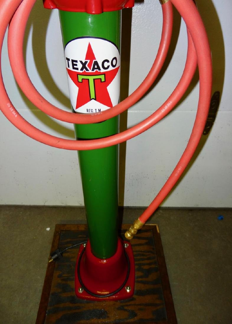 Texaco Restored Eco Tire Inflater on Stand - 3