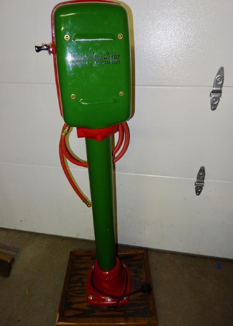 Texaco Restored Eco Tire Inflater on Stand - 4