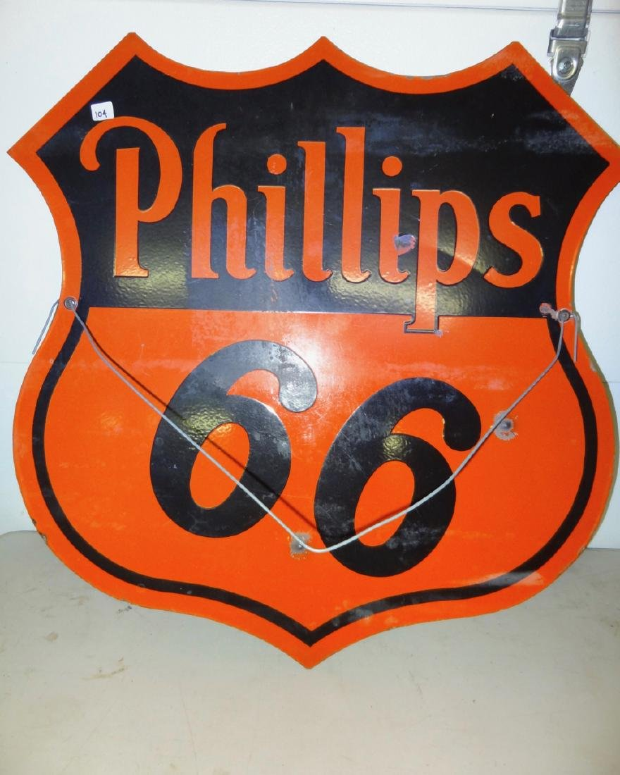 Double Sided Philip's 66 Porcelain Sign