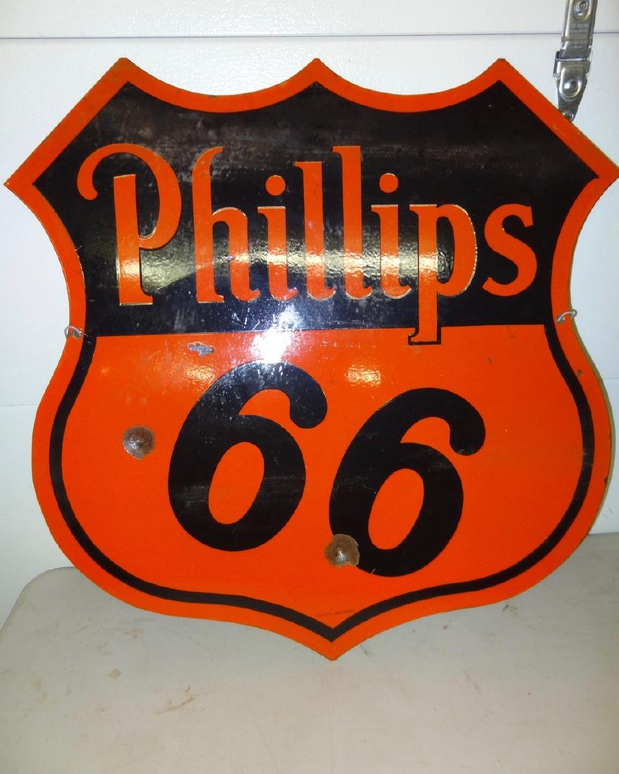 Double Sided Philip's 66 Porcelain Sign - 2