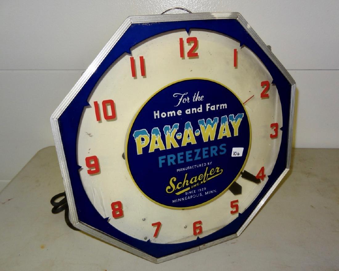 Schaefer Neon Advertising Clock