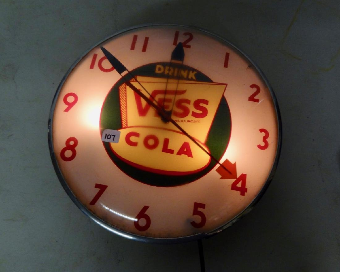 Vess Cola Advertising Pop Clock