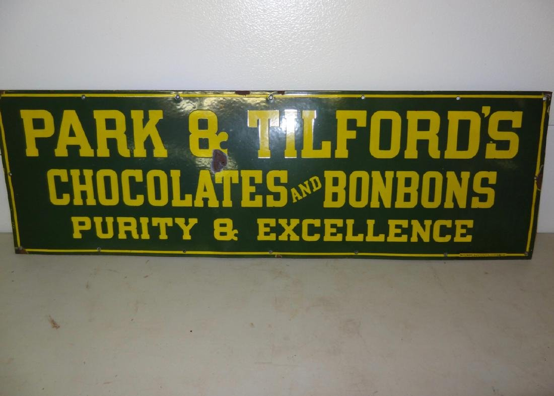 Park & Tilford's Chocolates & Bon Bon's Sign