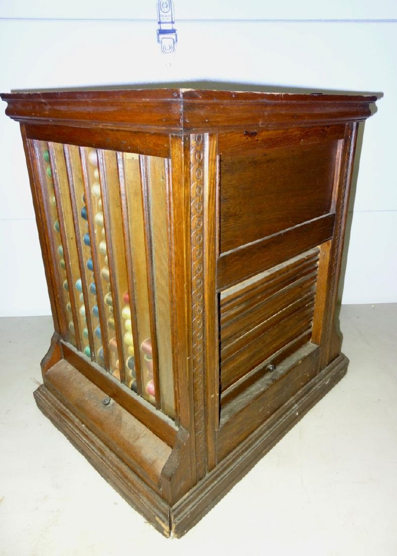 JP Coates Oak Spool Cabinet