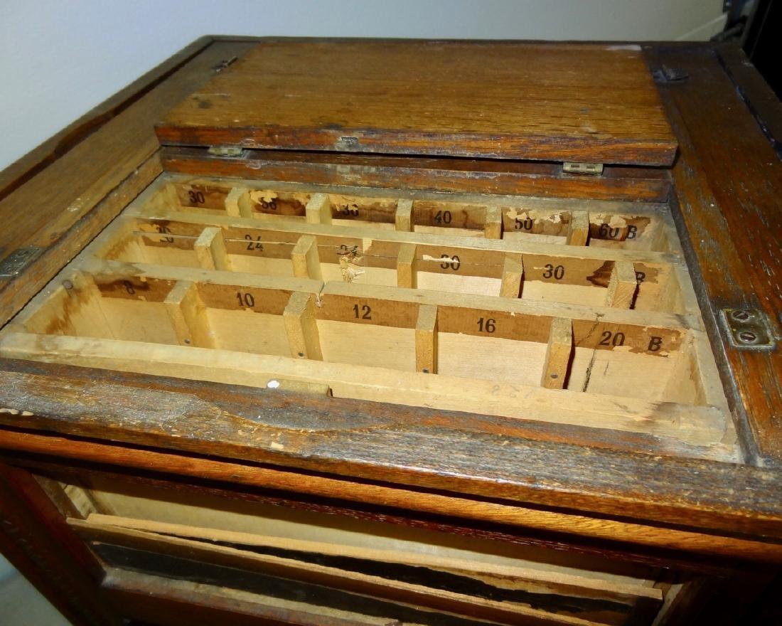 JP Coates Oak Spool Cabinet - 3
