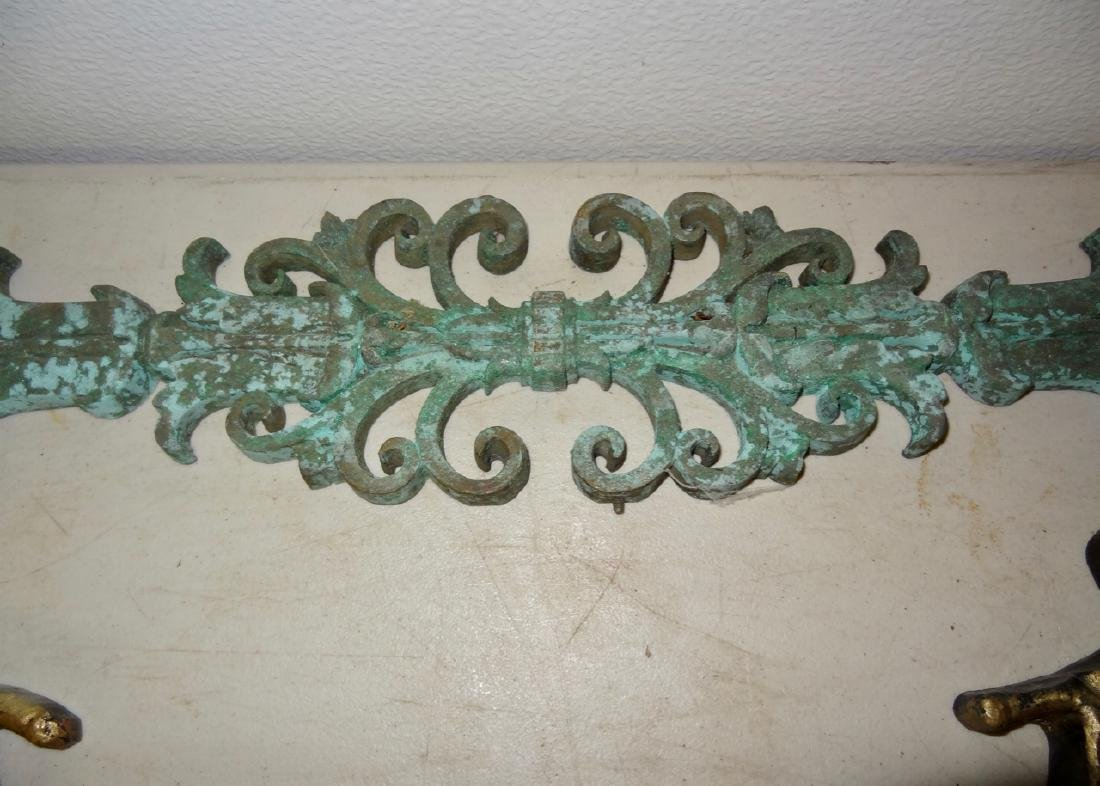 Large Cast Iron Oval Plaques & Bronze Trim - 4