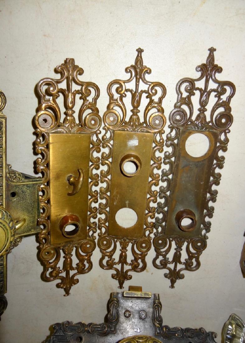 Box of 12 Fancy Brass & Glass Door Knobs - 3