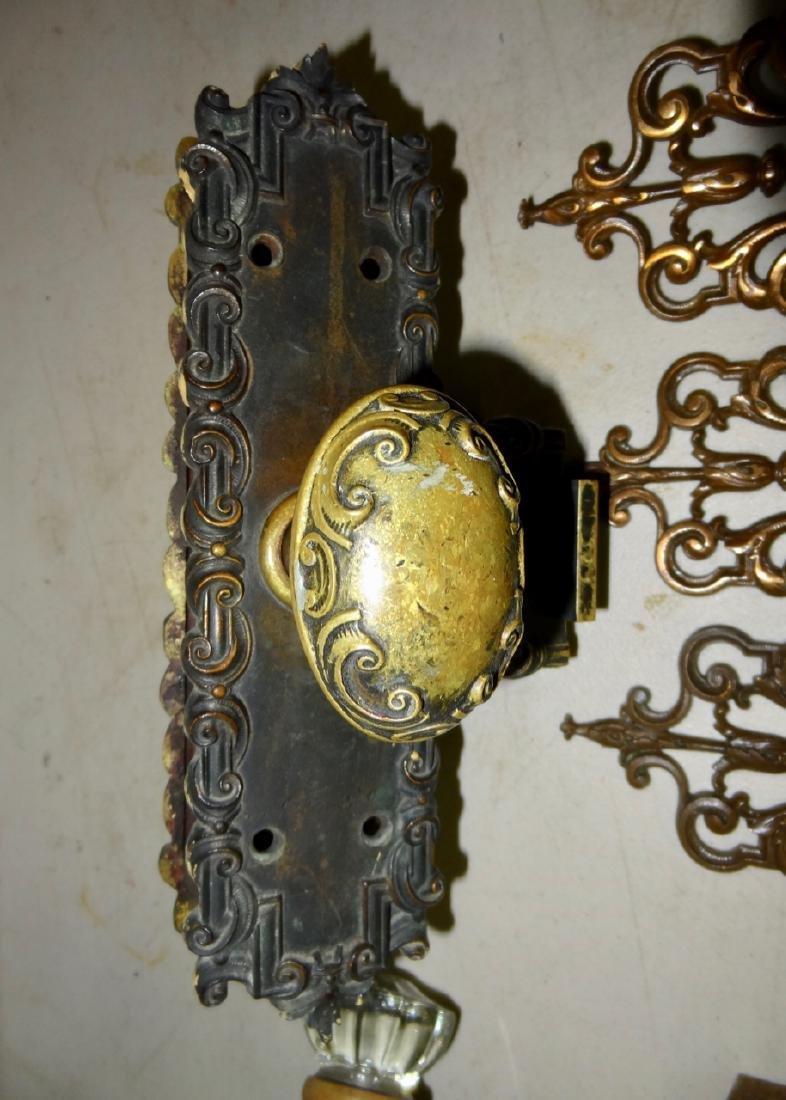 Box of 12 Fancy Brass & Glass Door Knobs - 4