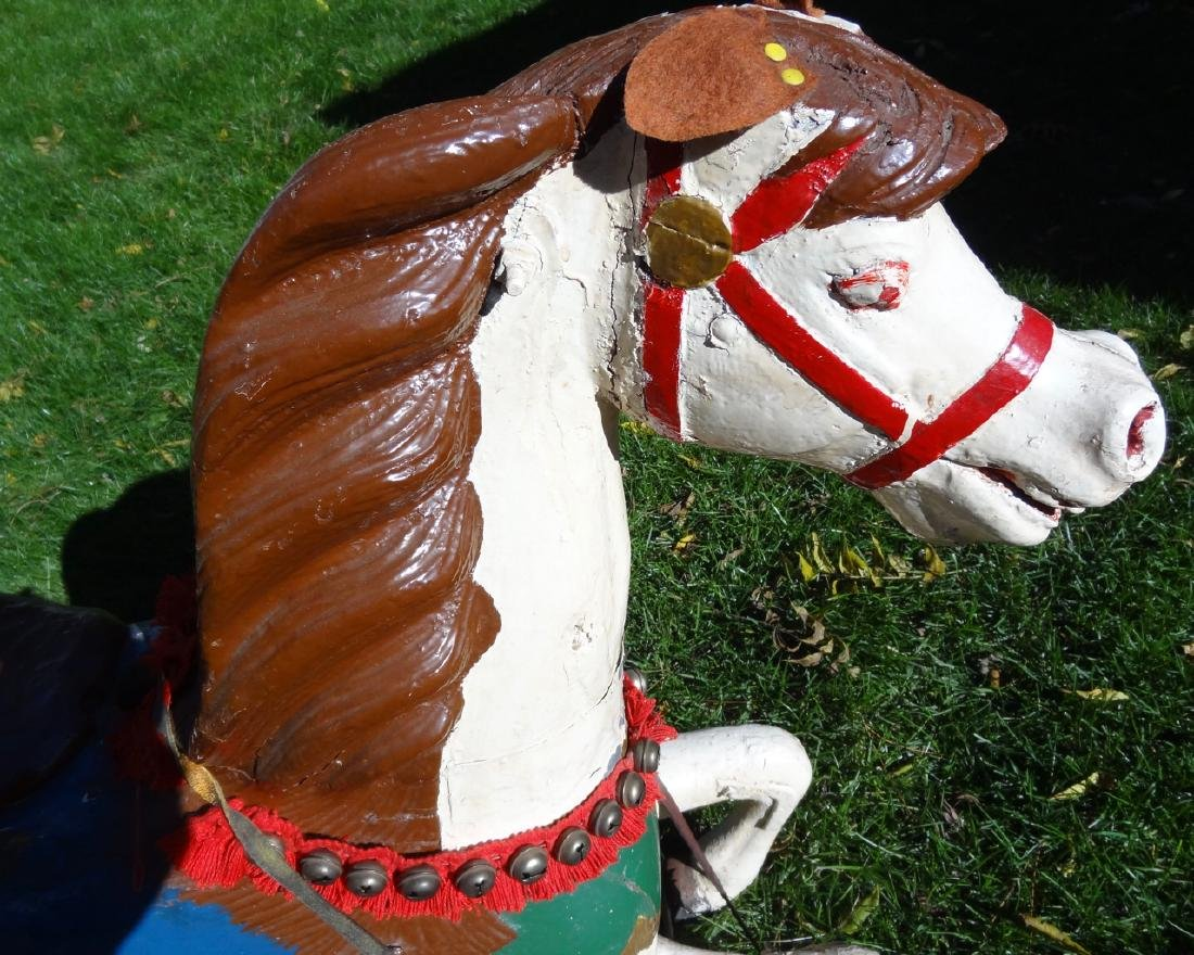 Carved Wood Carousel Horse - 2