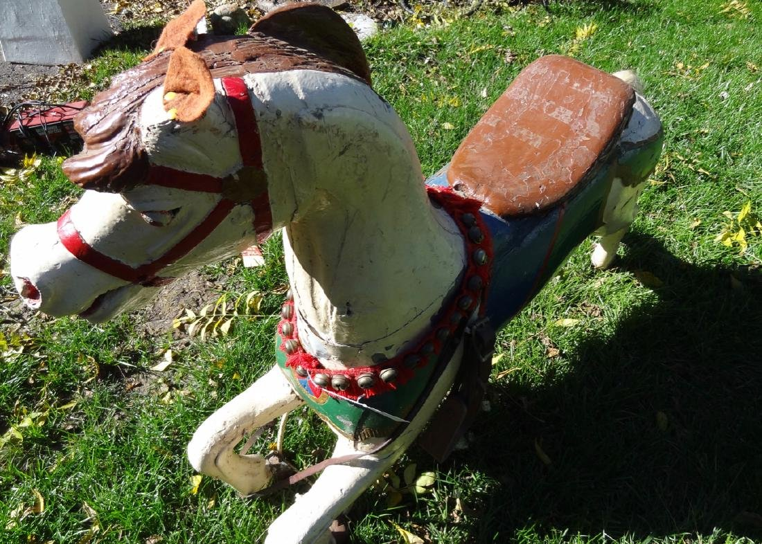 Carved Wood Carousel Horse - 3