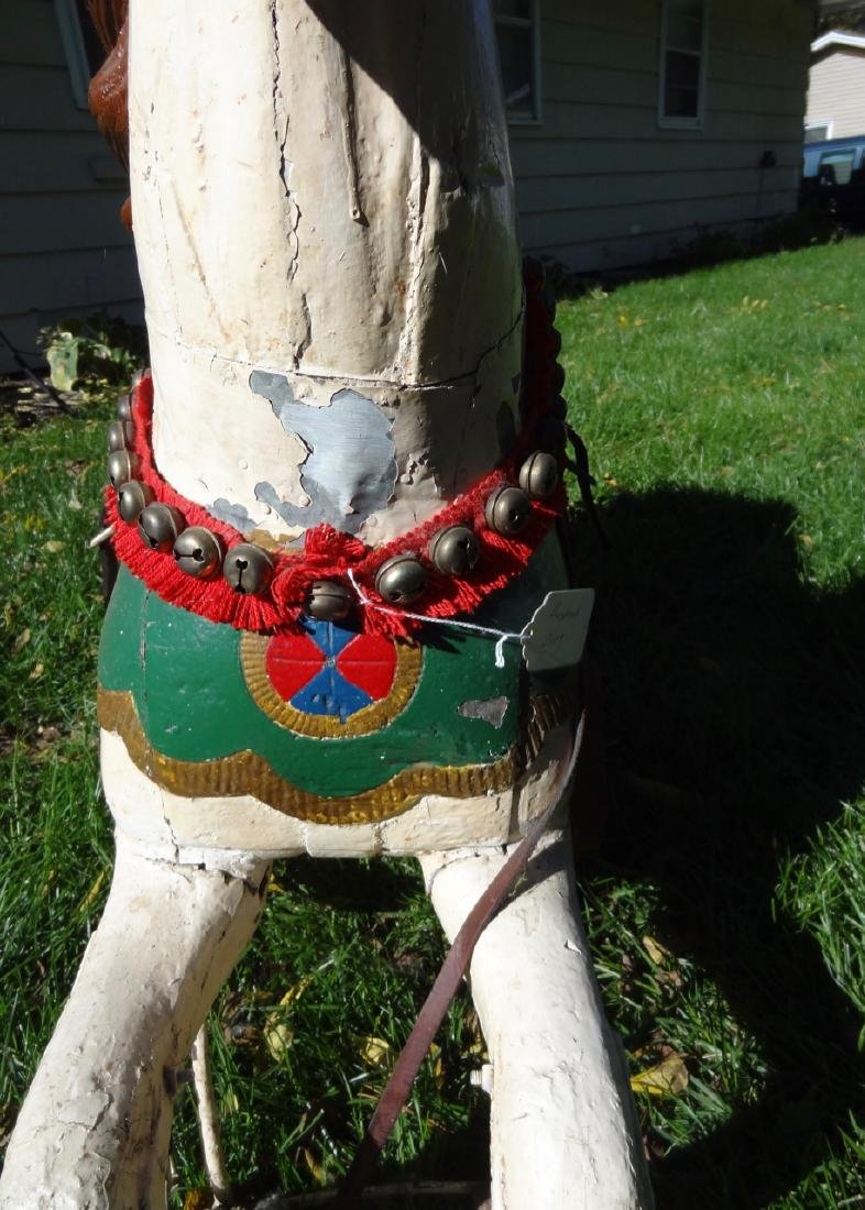 Carved Wood Carousel Horse - 4