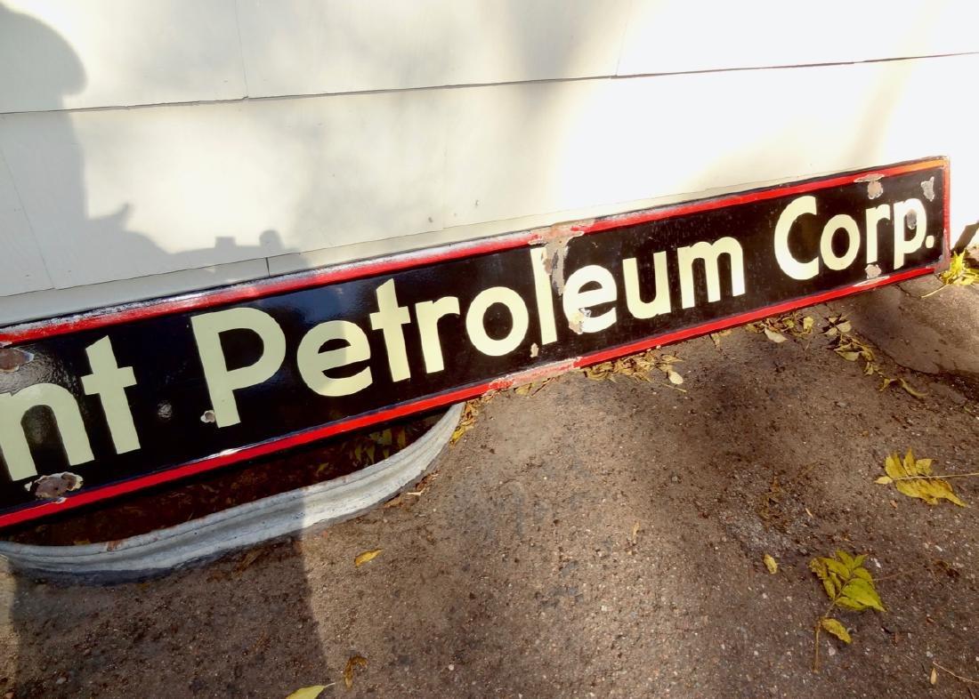Large Mid Continent Petroleum Corp. Porcelain Sign - 3