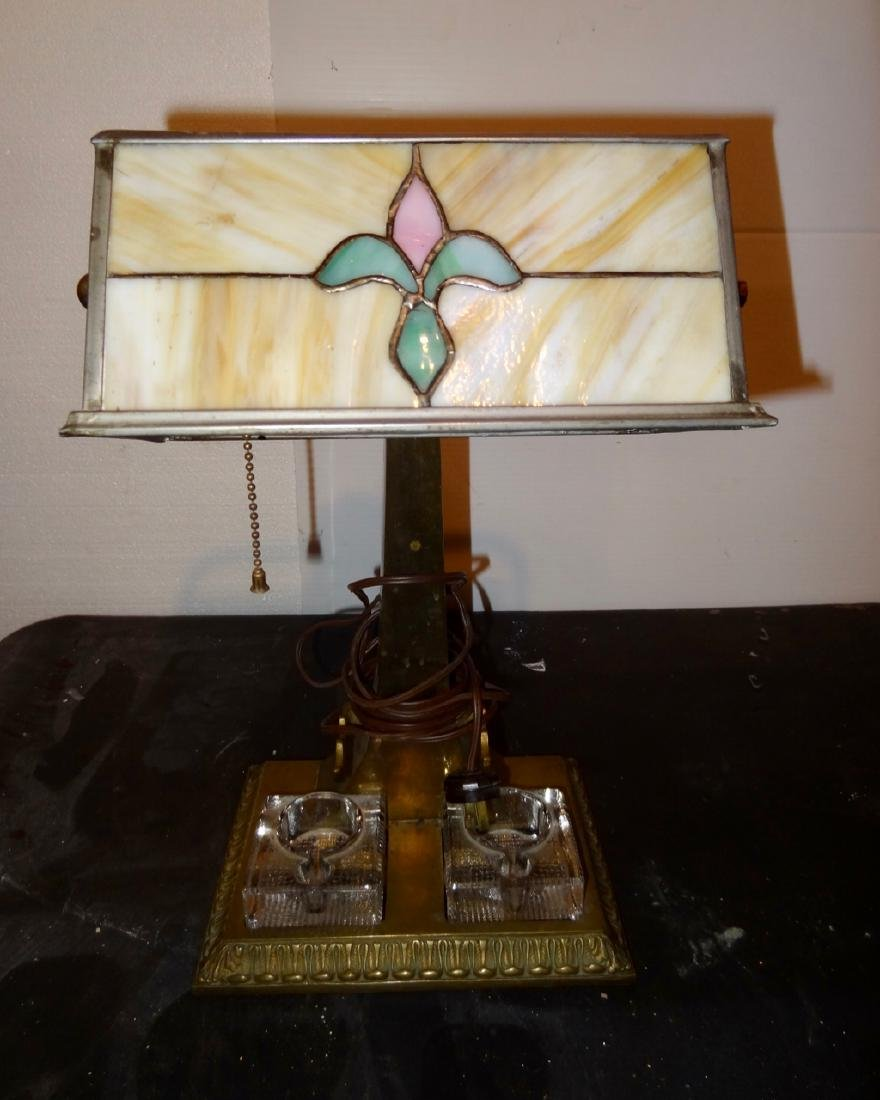 Stained Glass Student Lamp