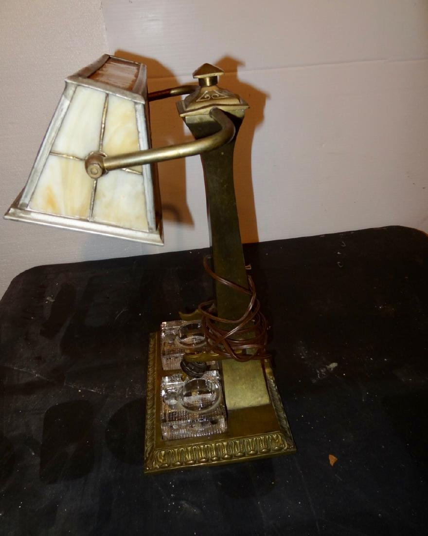 Stained Glass Student Lamp - 3