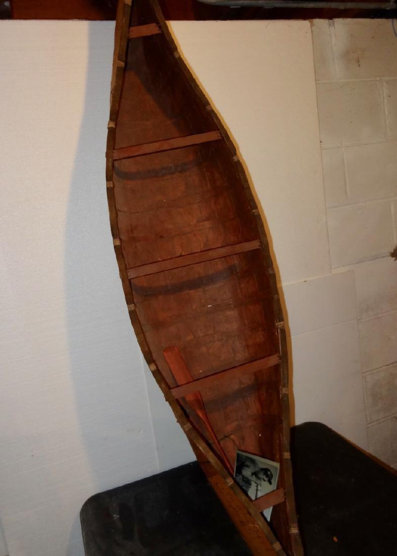 Birch Bark Salesman Sample Canoe