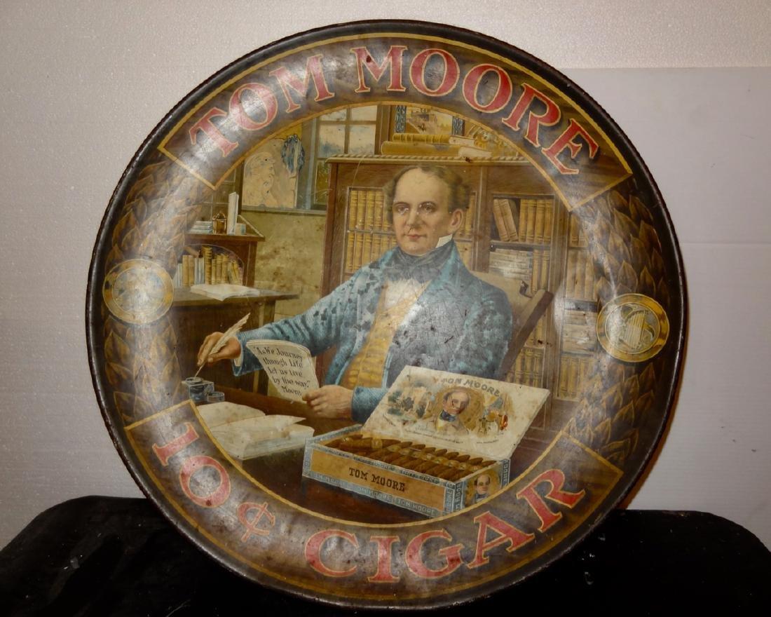 Tom Moore 10 Cent Cigar Tin Advertising