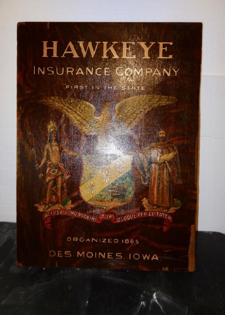 Hawkeye Insurance Oak Sign